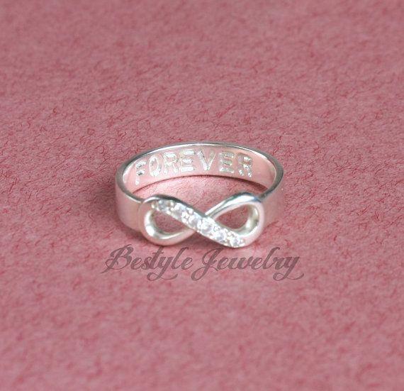 Infinity Symbol Ring Infinity Ring Diamond Ring Silver