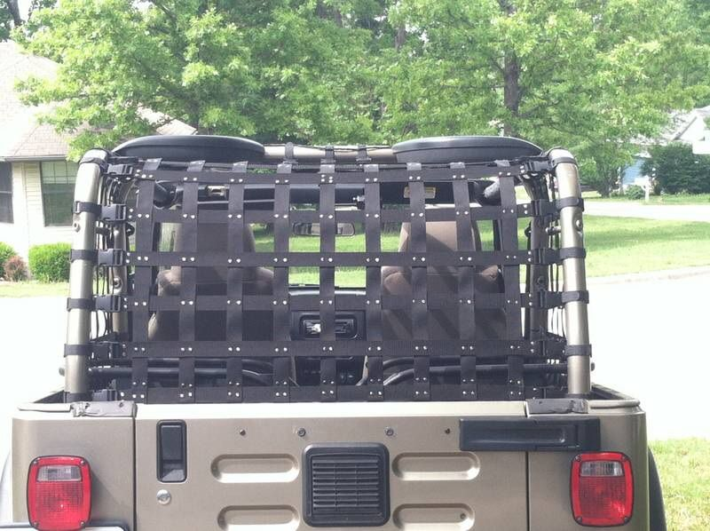 Diy Cargo Net Jeep Wrangler Forum Diy Jeep Jeep Wrangler Interior