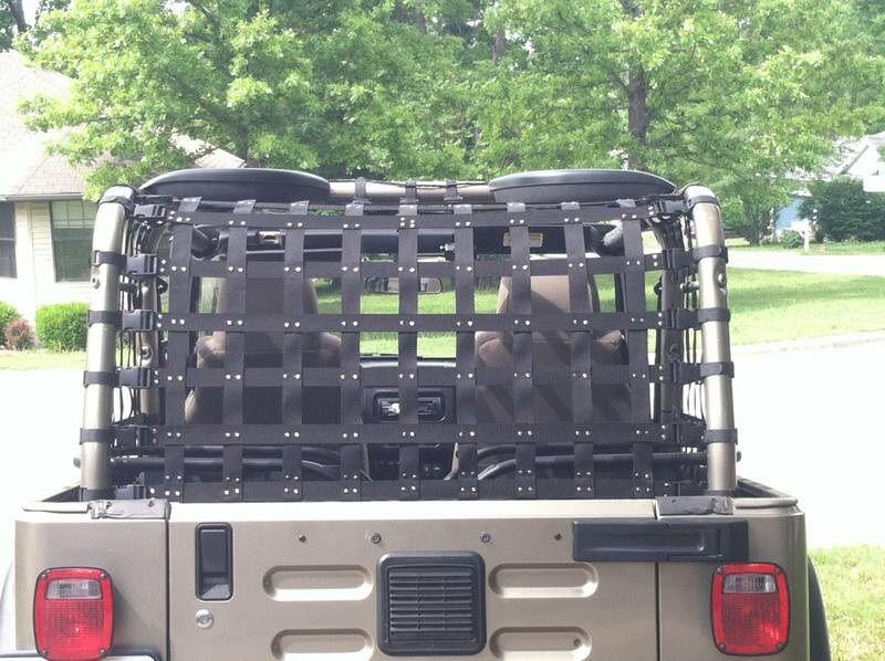 diy cargo net jeep wrangler forum rv caravan interior ideas pinterest jeep wrangler