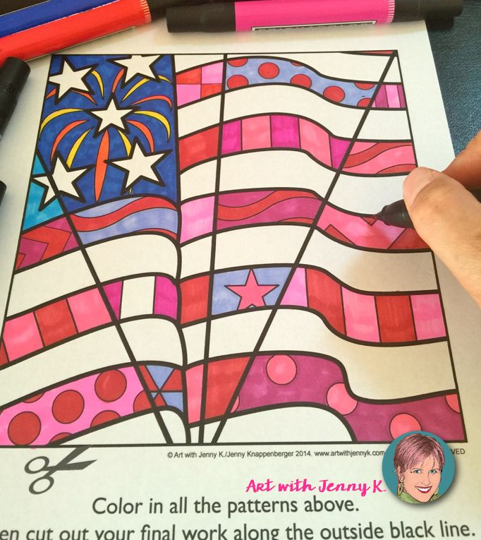 Patriotic Interactive Coloring Pages incl September 11 (9/11 ...