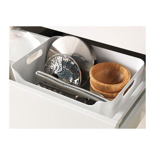 VARIERA Box, Hochglanz weiß Küchenorganisation, Küchenutensilien - schubladen ordnungssystem küche