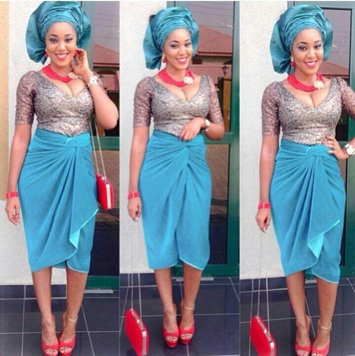 Yoruba Style Blue Skirt And Beads Nigerian Fashion Blue Nigerian Weddings