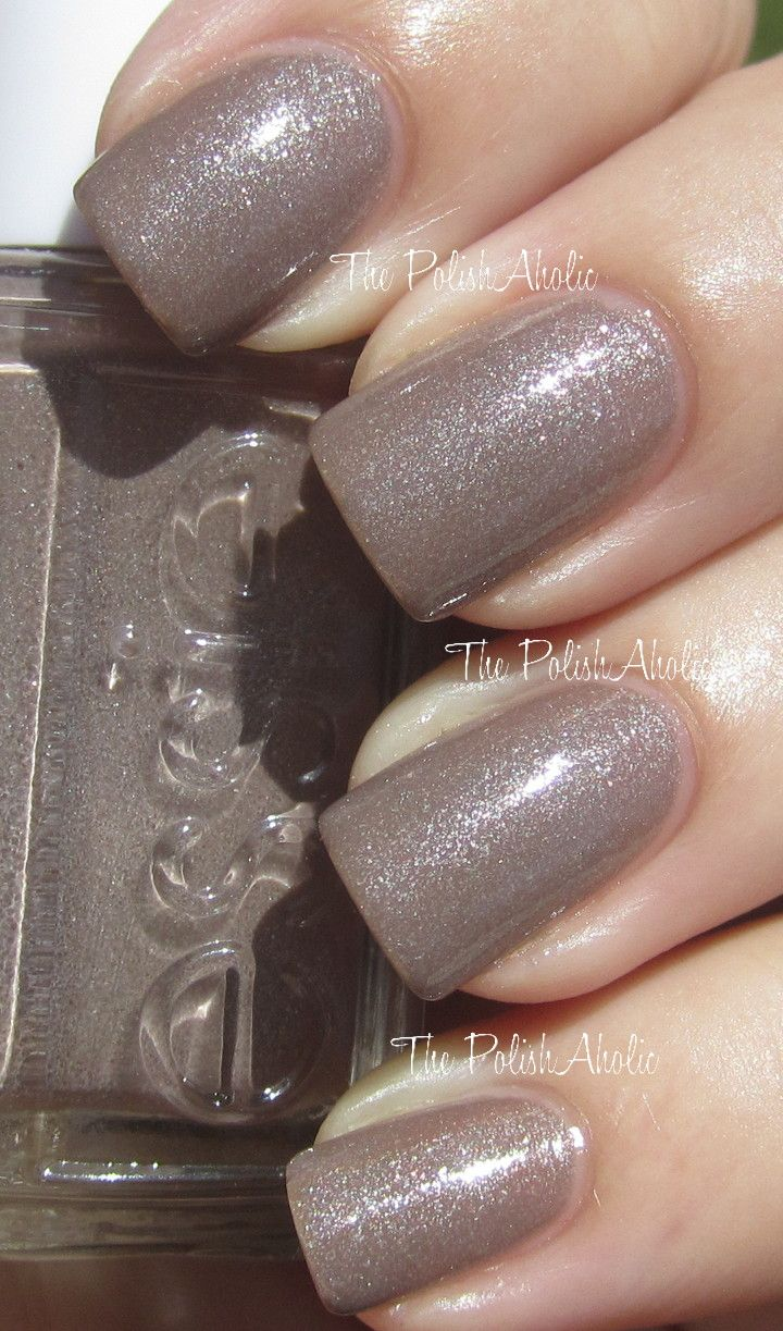 Essie Mochaccino is taupe-y brown with a strong silver shimmer ...