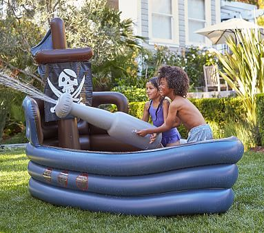 Pirate Ship Inflatable Pool Outdoor Toys Pool Toys