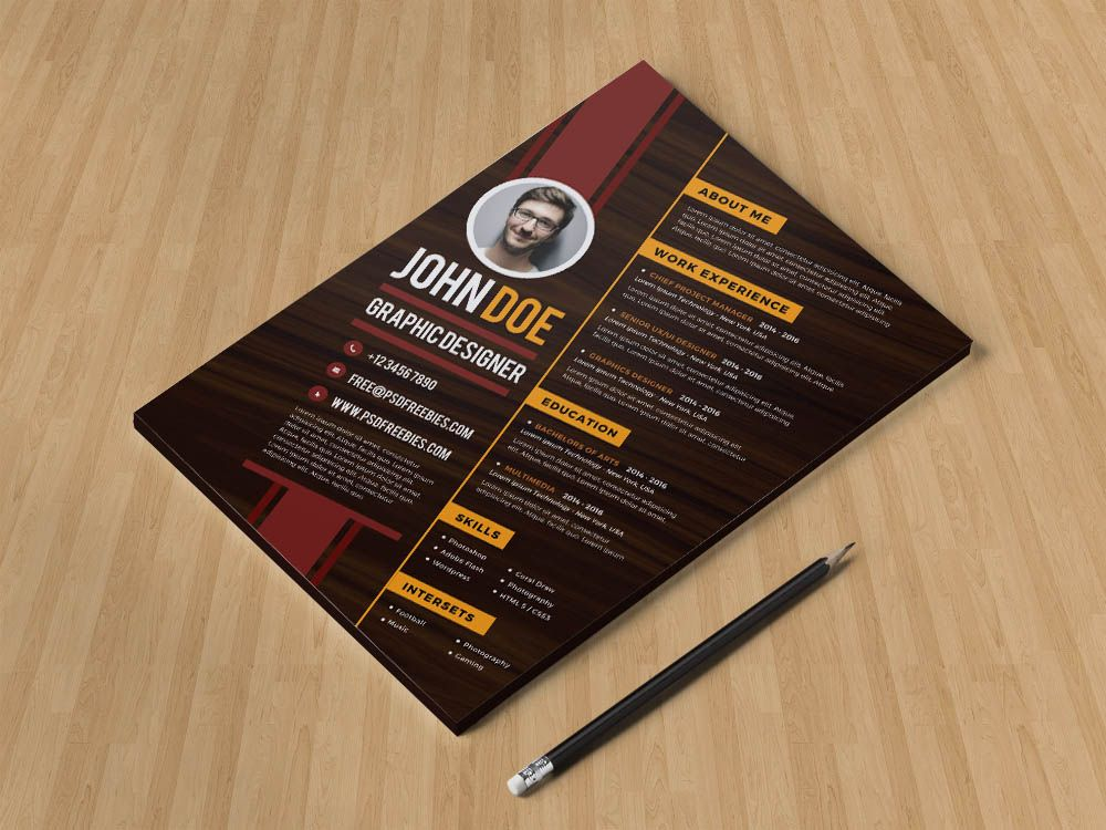 Free diagonal resume template with creative design for job