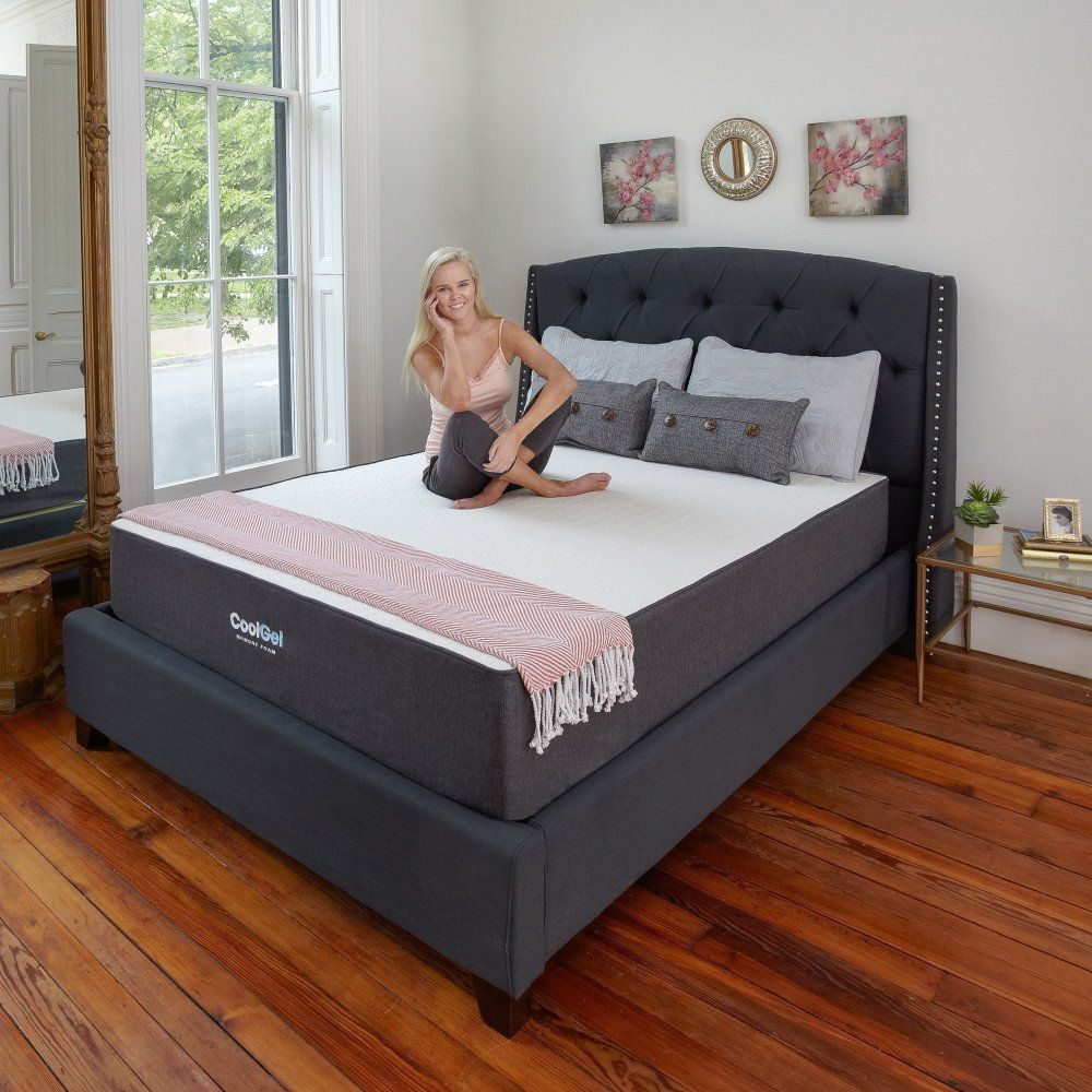 classic brands 10 5 inch cool gel ventilated memory foam mattress