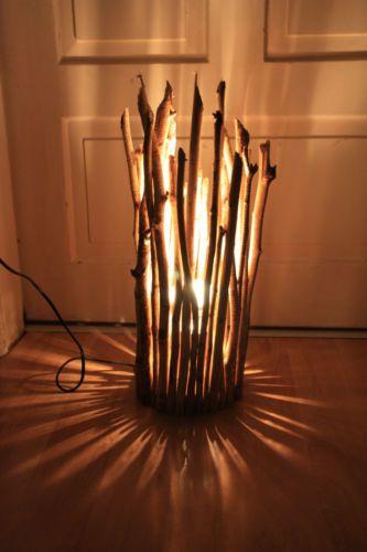 Treibholz Lampe Tischlampe Schwämmholz Unikat Ebay
