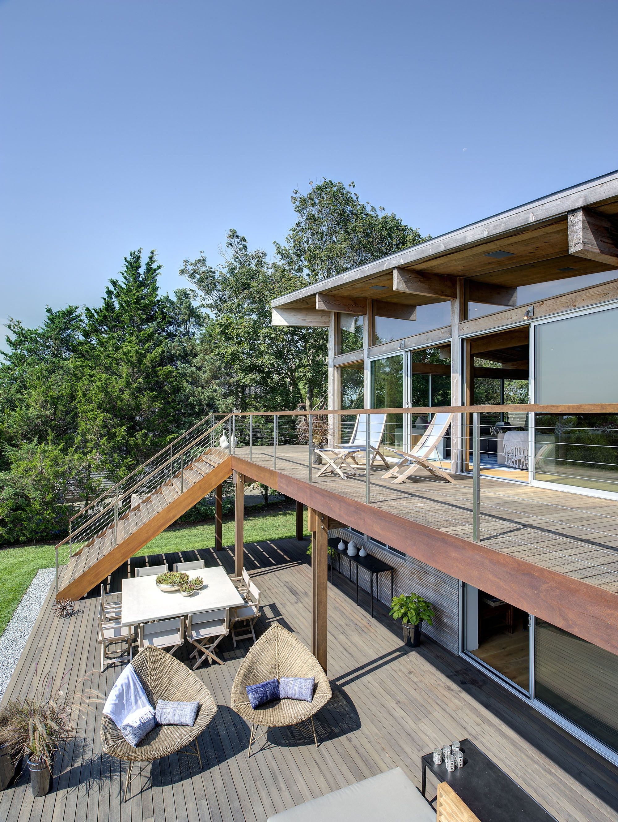 Best Hurricane Proof Wood And Steel Waterfront Home On Long 400 x 300