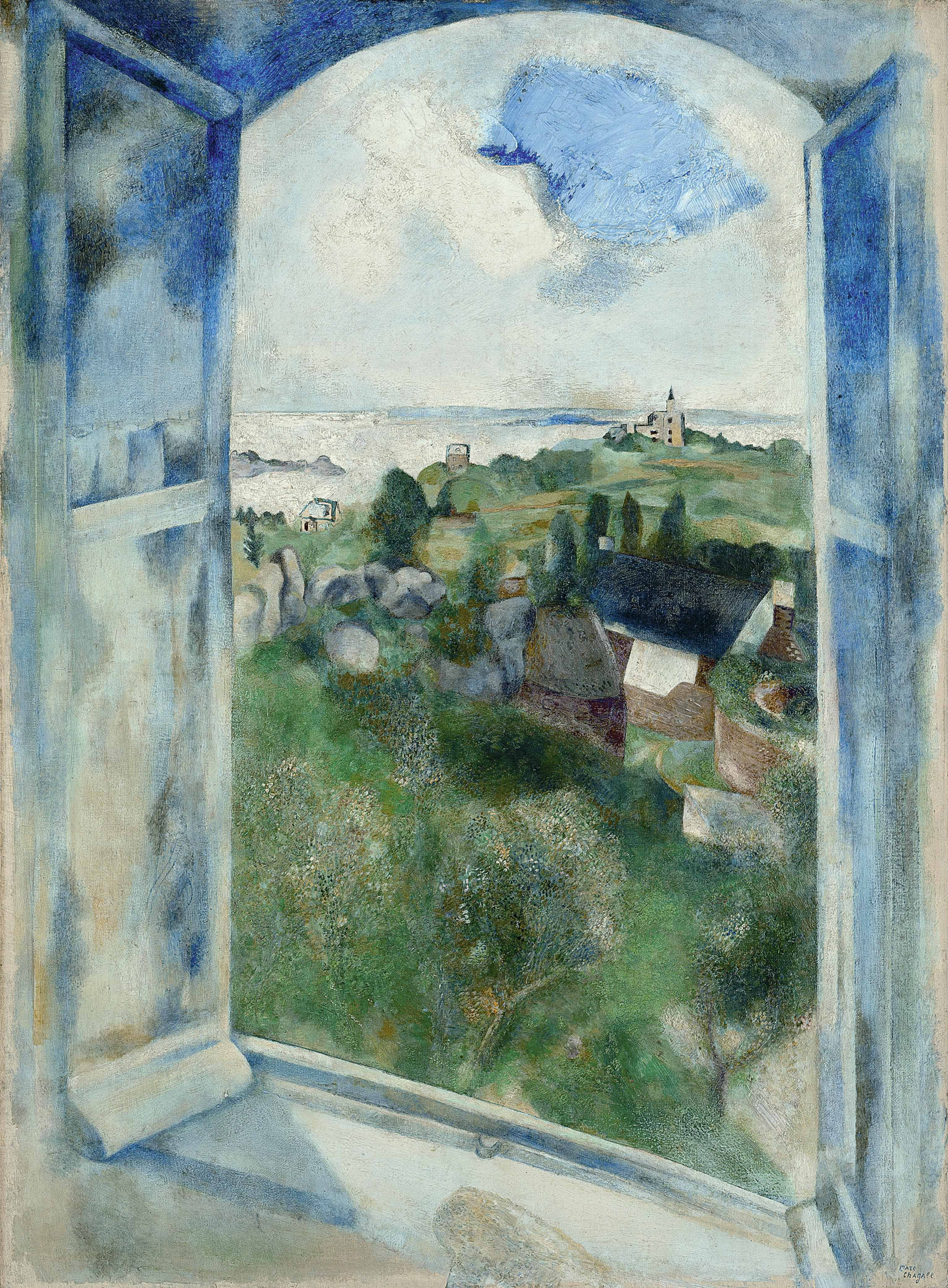 La Fenetre Sur L Ile De Brehat 1924 Marc Chagall Art Marc Chagall Painting