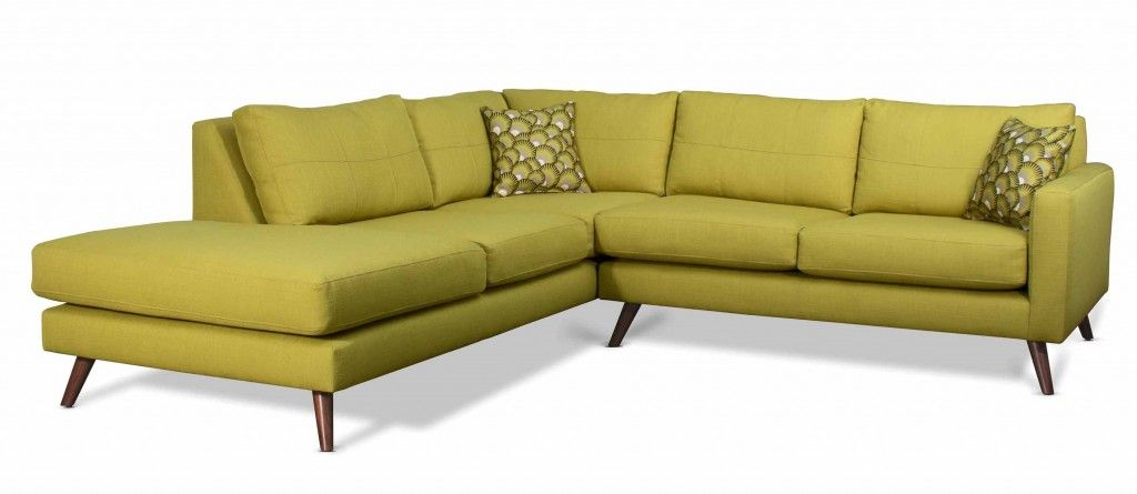 Dane Chartreuse Mid Century Inspired Sectional Sofa From Mcm Inspiration