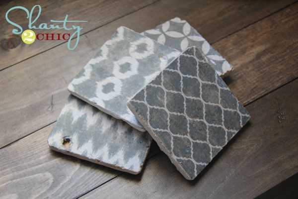 Creative Weekend Project: DIY Shabby Chic Drink Coasters | Coaster ...