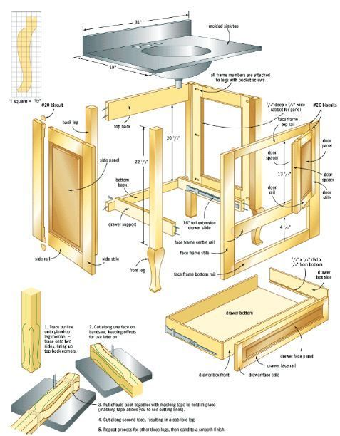 Woodworking plan for another Bathroom Cabinet. Complete woodworking plans with detail descriptions can be found on my website: www.tedswoodworkplans.com: