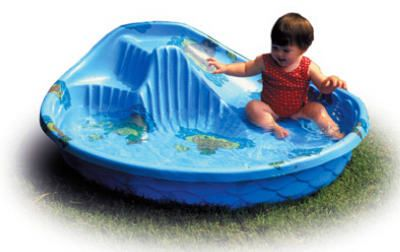 General Foam Plastics Gv68dts Round Kids Pool With Slide