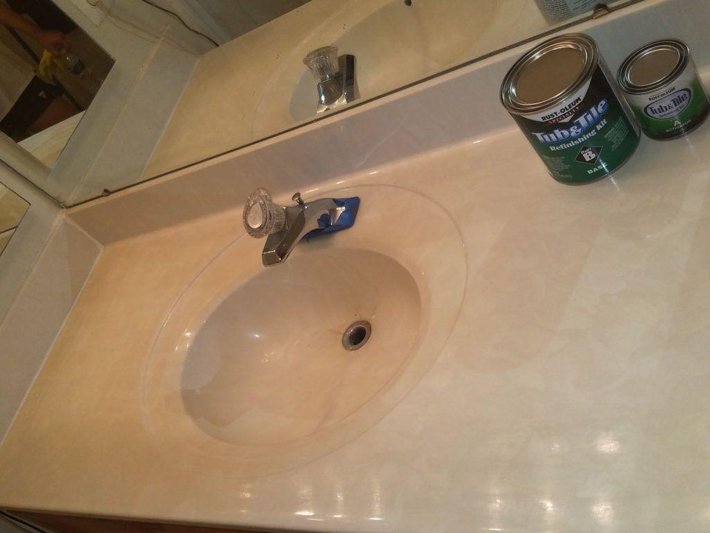 Refinished Bathroom Sink And Shower Tub Sink Shower Tub Bathtub Shower
