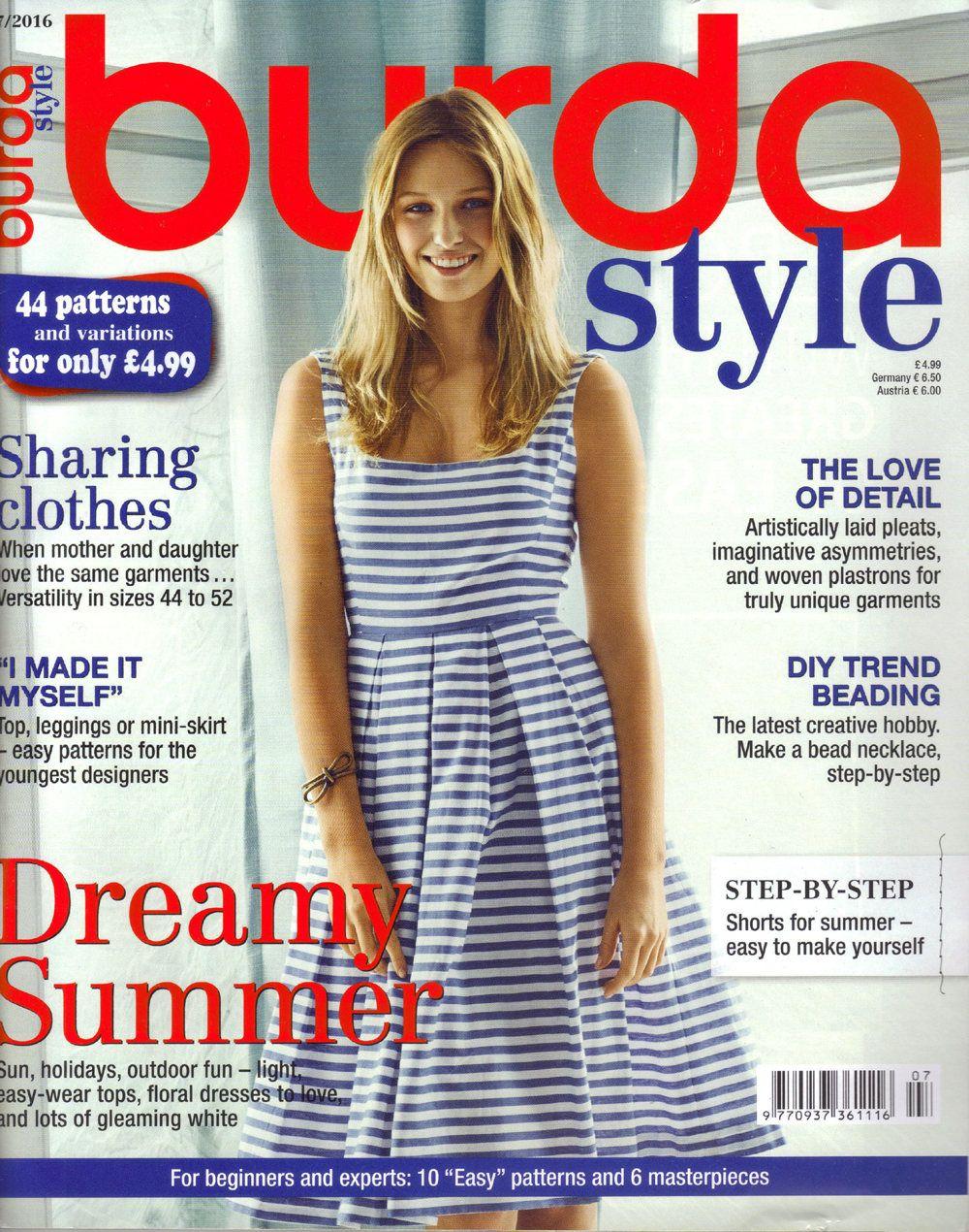 Burda style magazine 72016 english sewing patterns by burda style magazine 72016 english sewing patterns by honeyjamsuniques on etsy jeuxipadfo Image collections