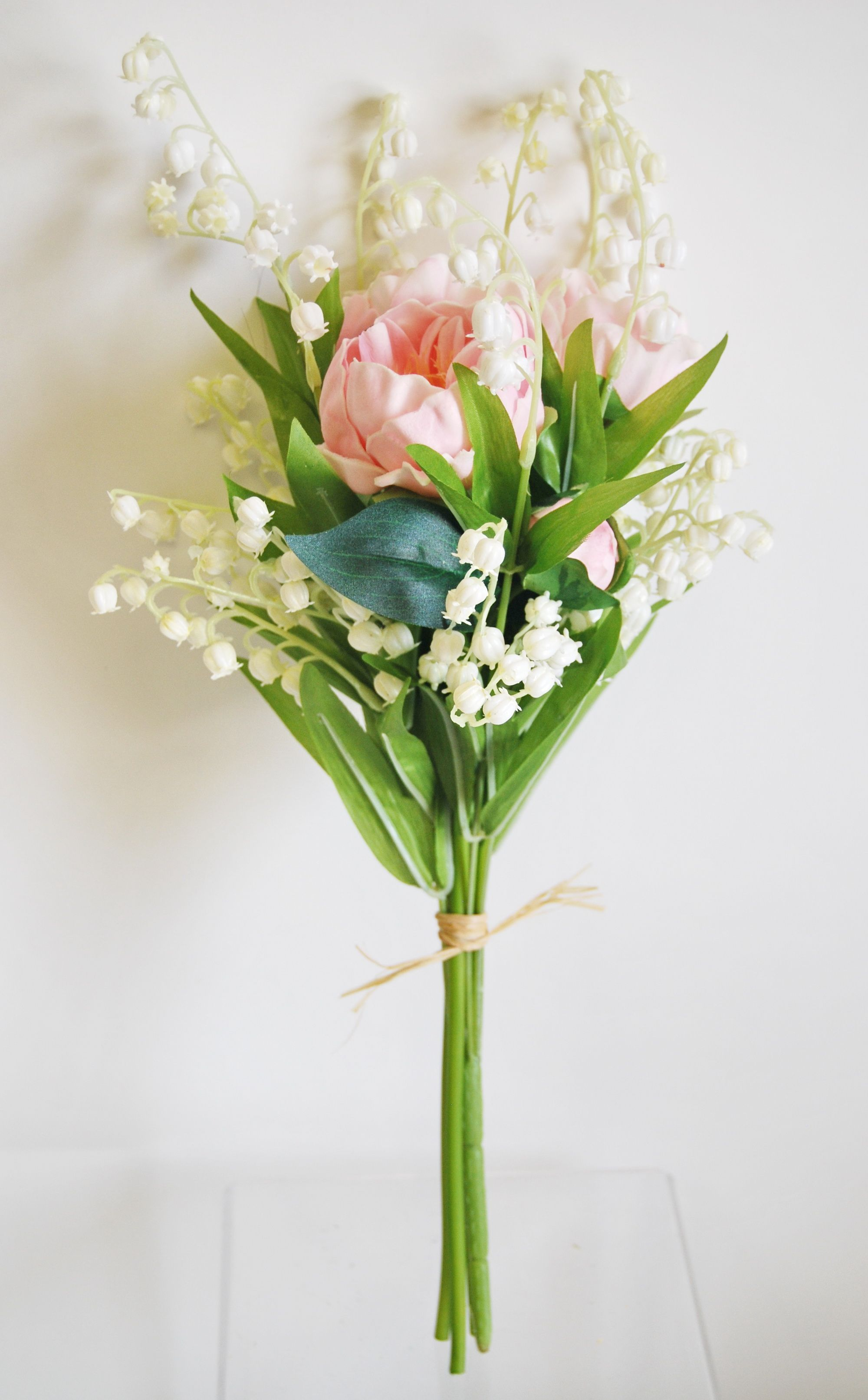 Wb196pk real touch peony lily of the valley bouquet pink wb196pk real touch peony lily of the valley bouquet pink izmirmasajfo