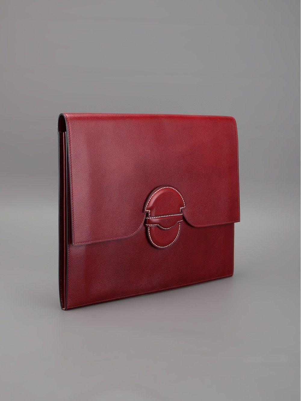 Hermès Vintage \'Marco Polo Club\' clutch | carteras bellas ...