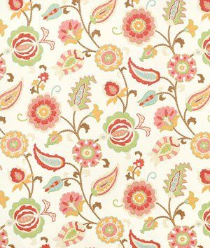 Braemore Selim Punch. Has red, green, brown and light taupe on a bright background
