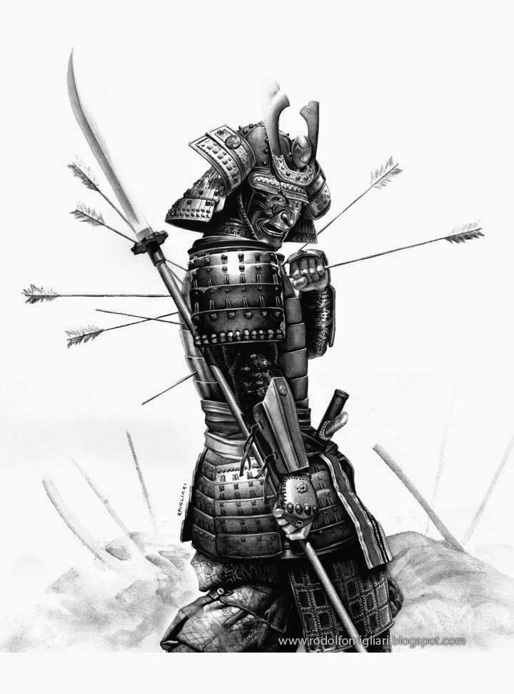 This is an image of Dynamite Samurai Warrior Drawing