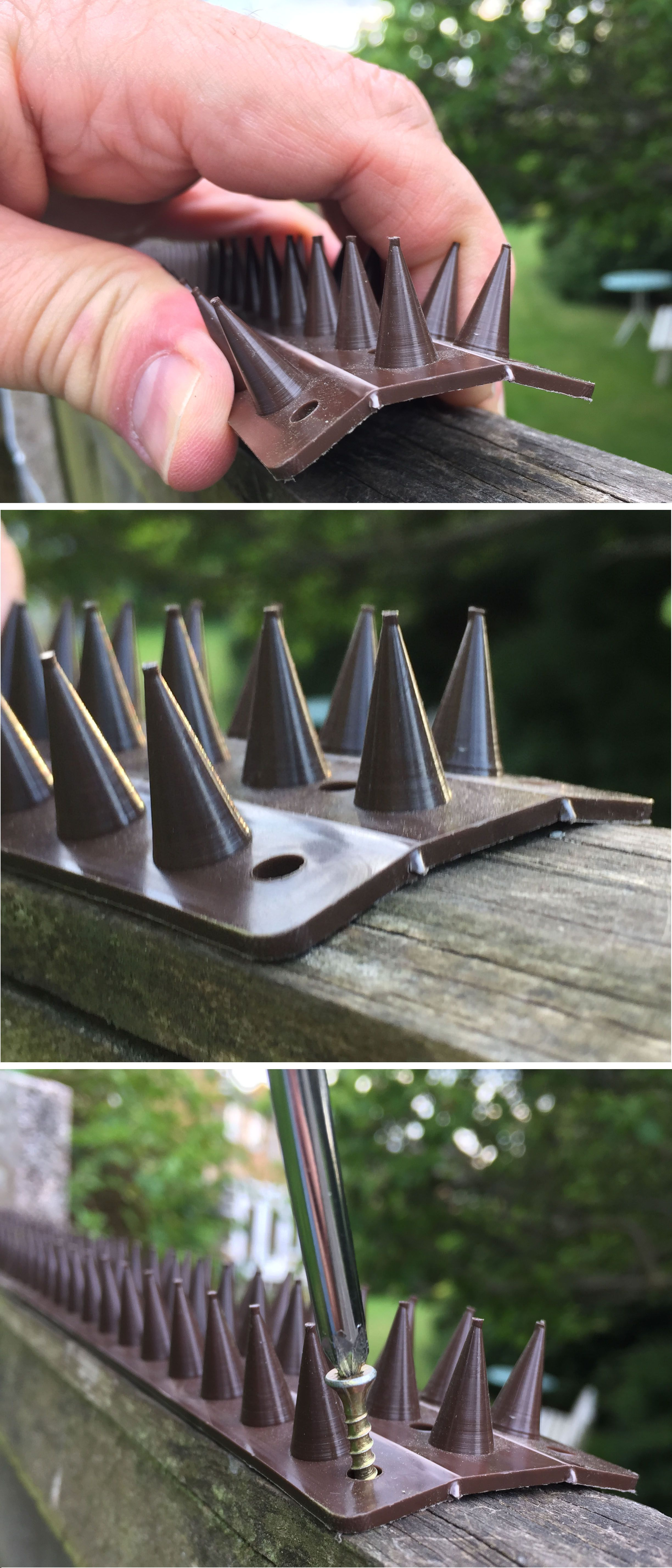PrikkaStrip garden security spikes are easy to fit to fence tops Just shape fit and screw