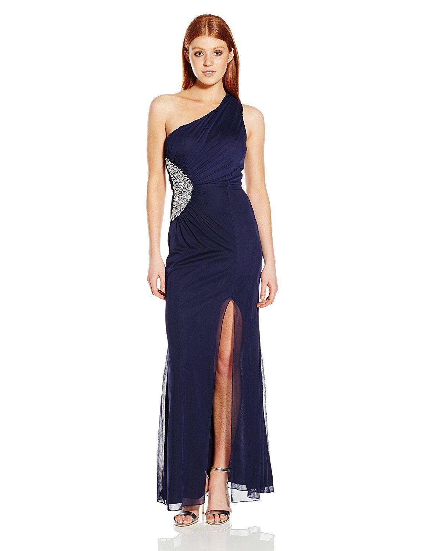Trixxi juniorus one shoulder embellished side long prom dress be
