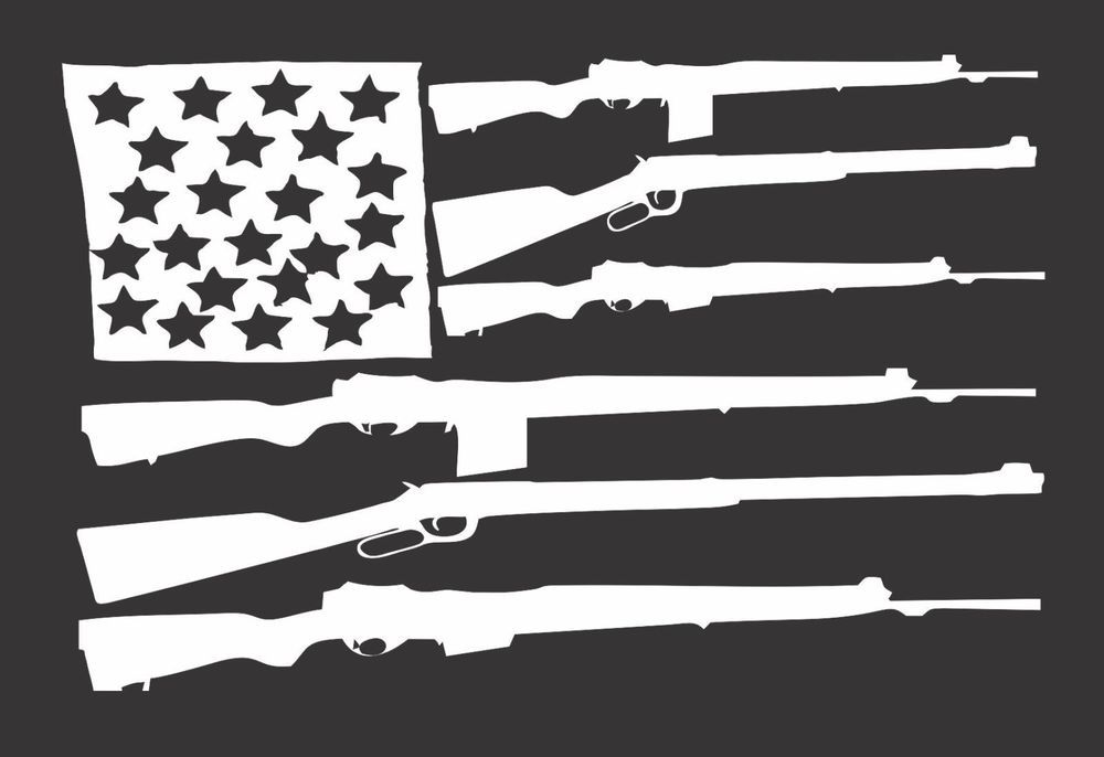 Flag Guns USA - Die Cut Vinyl Window Decal/Sticker for Car/Truck ...
