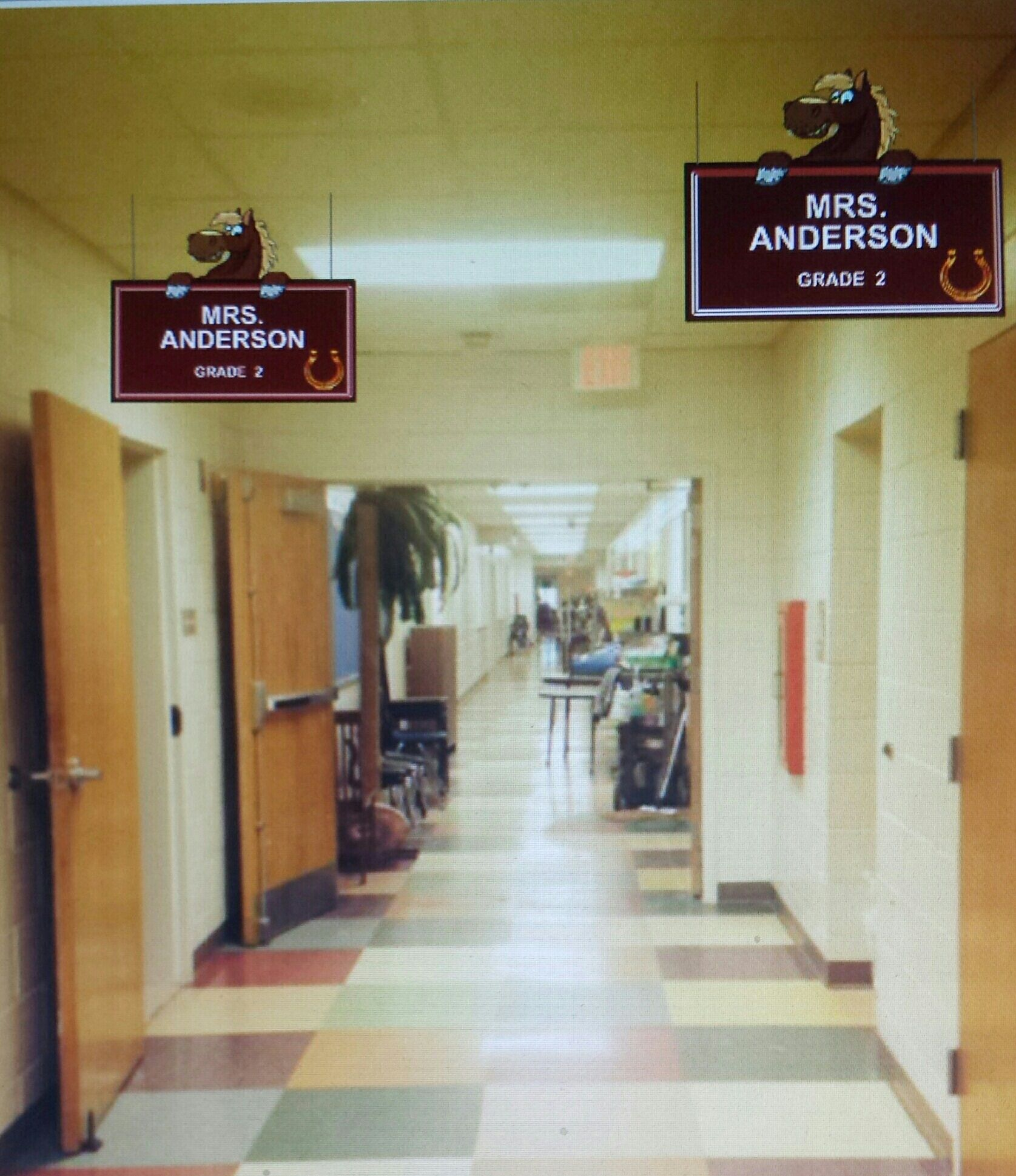 This Is Only A Mock Up Of A School Hallway To Envision What Their Custom Design Will Look Like In Their Scho School Hallways Small Hallway Ideas Floor Patterns