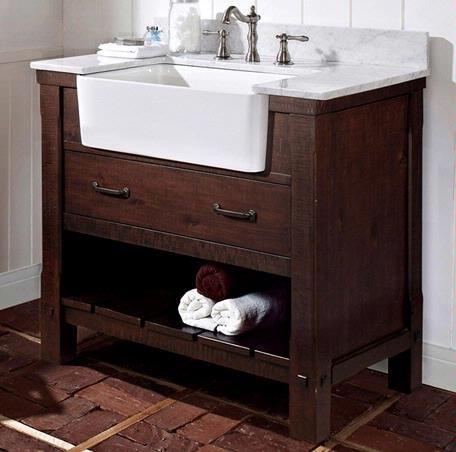 Fairmont Designs Napa 36 Farmhouse Vanity Fv36 Bath Vanity From Home Stone Farmhouse Bathroom Vanity Farmhouse Vanity Bathroom Sink Vanity