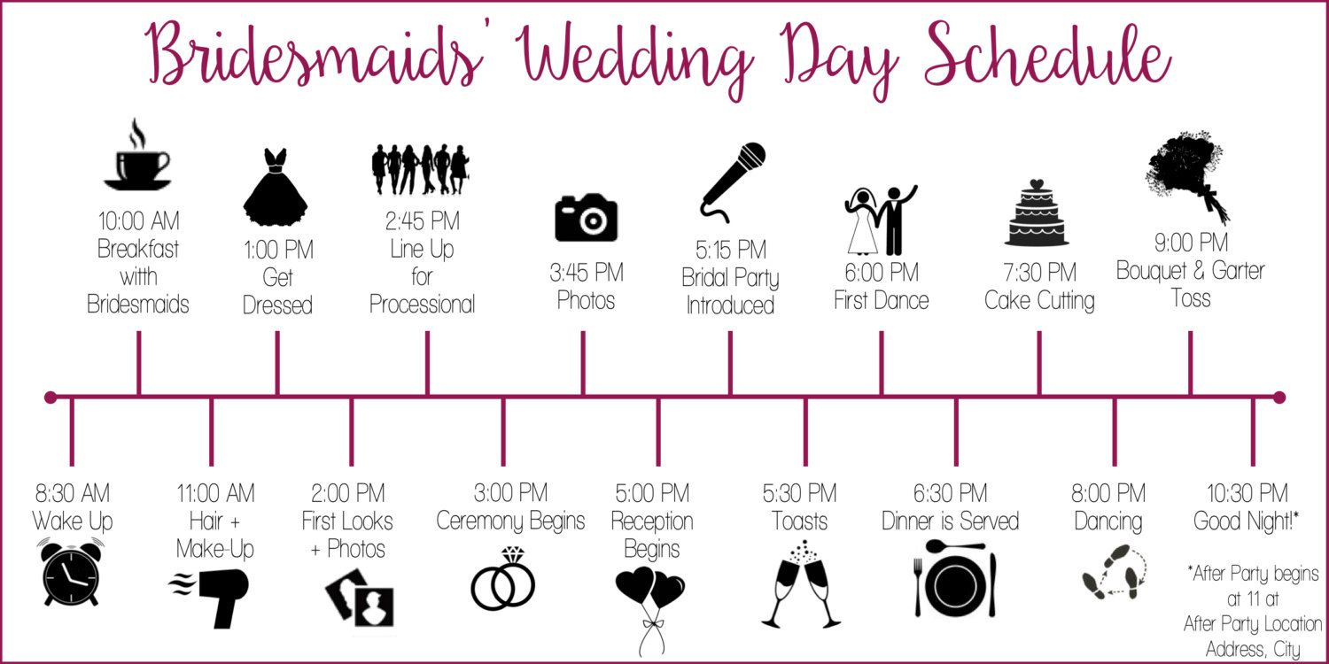 Image result for wedding timeline clipart wedding party