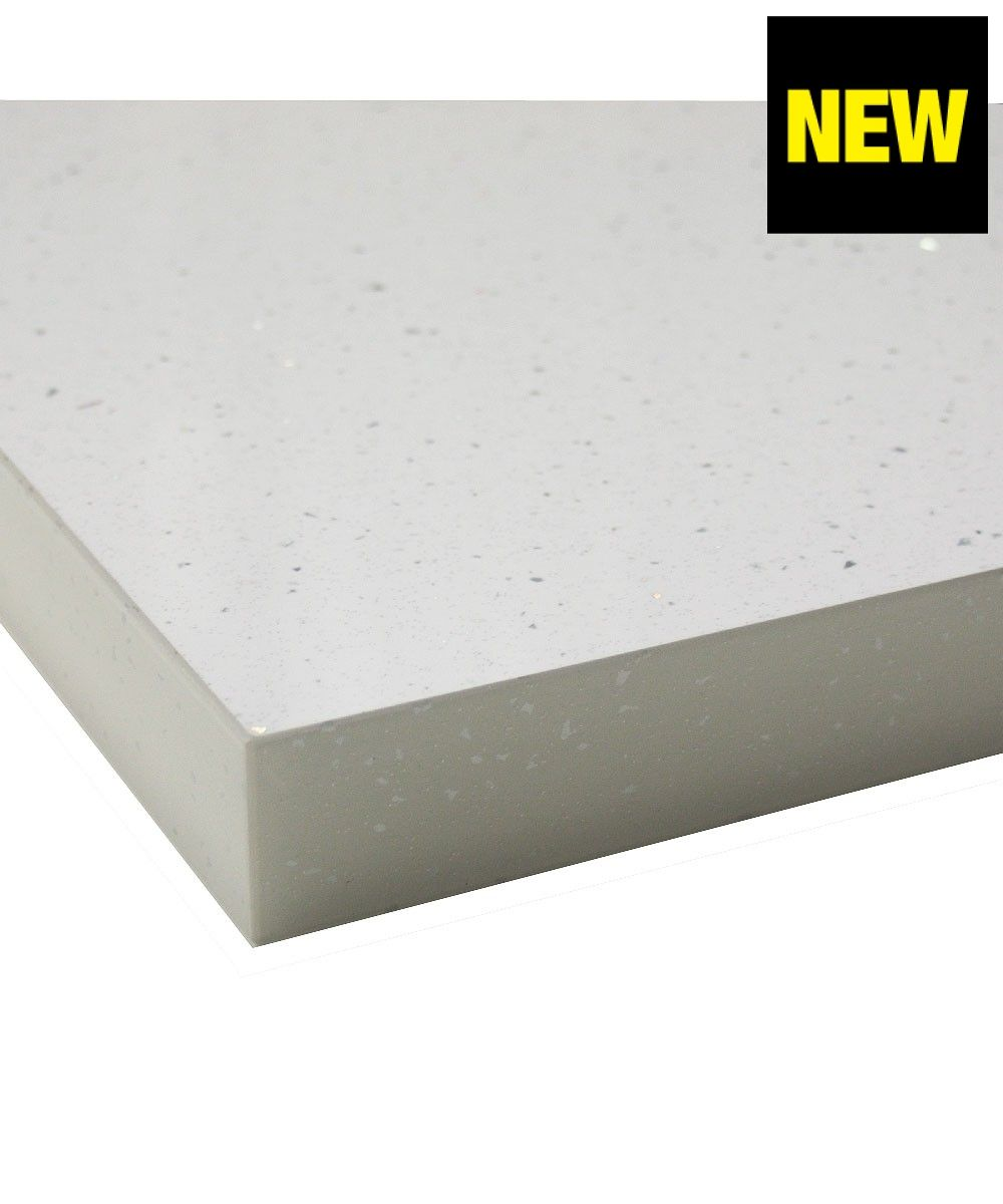 White Laminate Kitchen Worktops White Andromeda Gloss 40mm Laminate Kitchen Worktop With Square