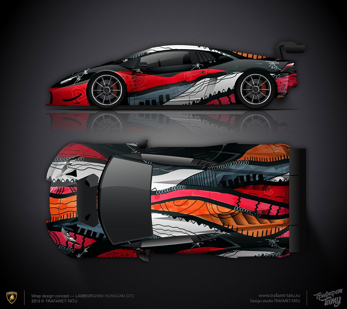 wrap design concept 2 artcar lamborghini huracan gt3 car wrap design pinterest autos und. Black Bedroom Furniture Sets. Home Design Ideas