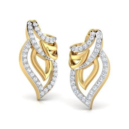 Diamond Gemstone Earrings Caratlane