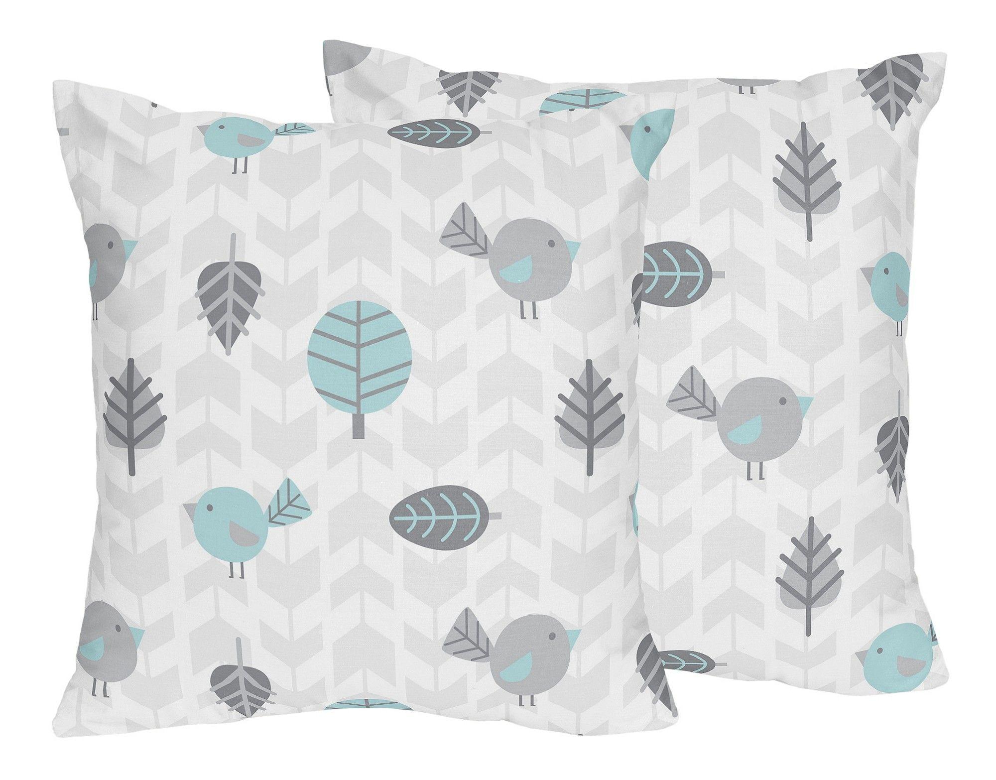 Earth and Sky Bird Print Throw Pillow