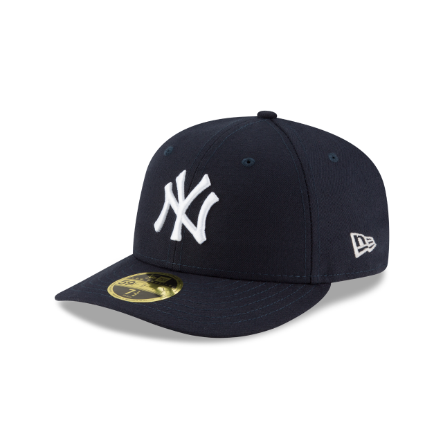 NEW YORK YANKEES AUTHENTIC COLLECTION LOW PROFILE 59FIFTY FITTED 3 quarter  left view