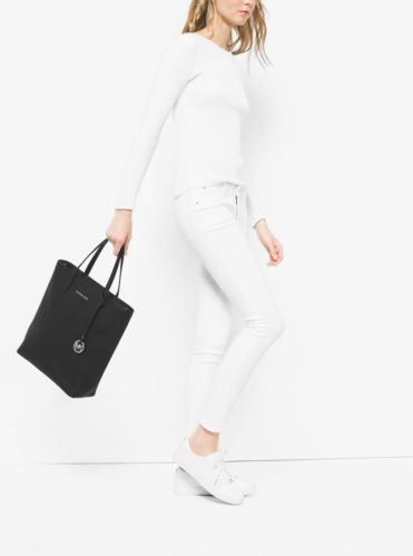 d669fa1bdcdc Hayley Large Perforated-Leather Tote Bag   Michael Kors   Want it ...