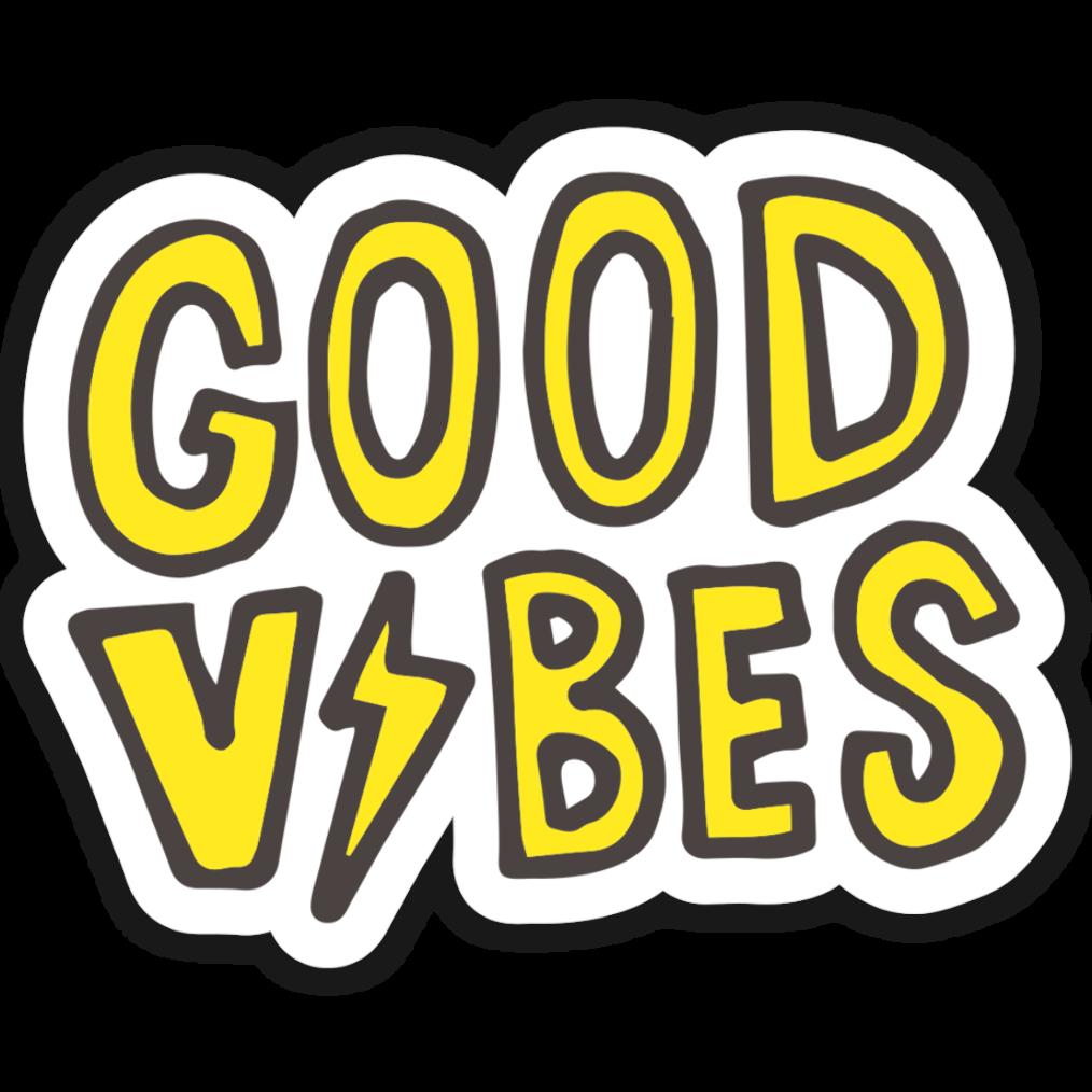 Good Vibes Bolt Sticker em 2020 Adesivos para impressão
