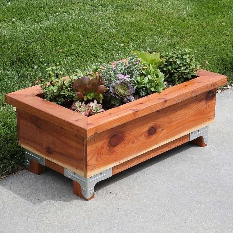bac à fleurs en bois à faire soimême  52 bacs à fleurs