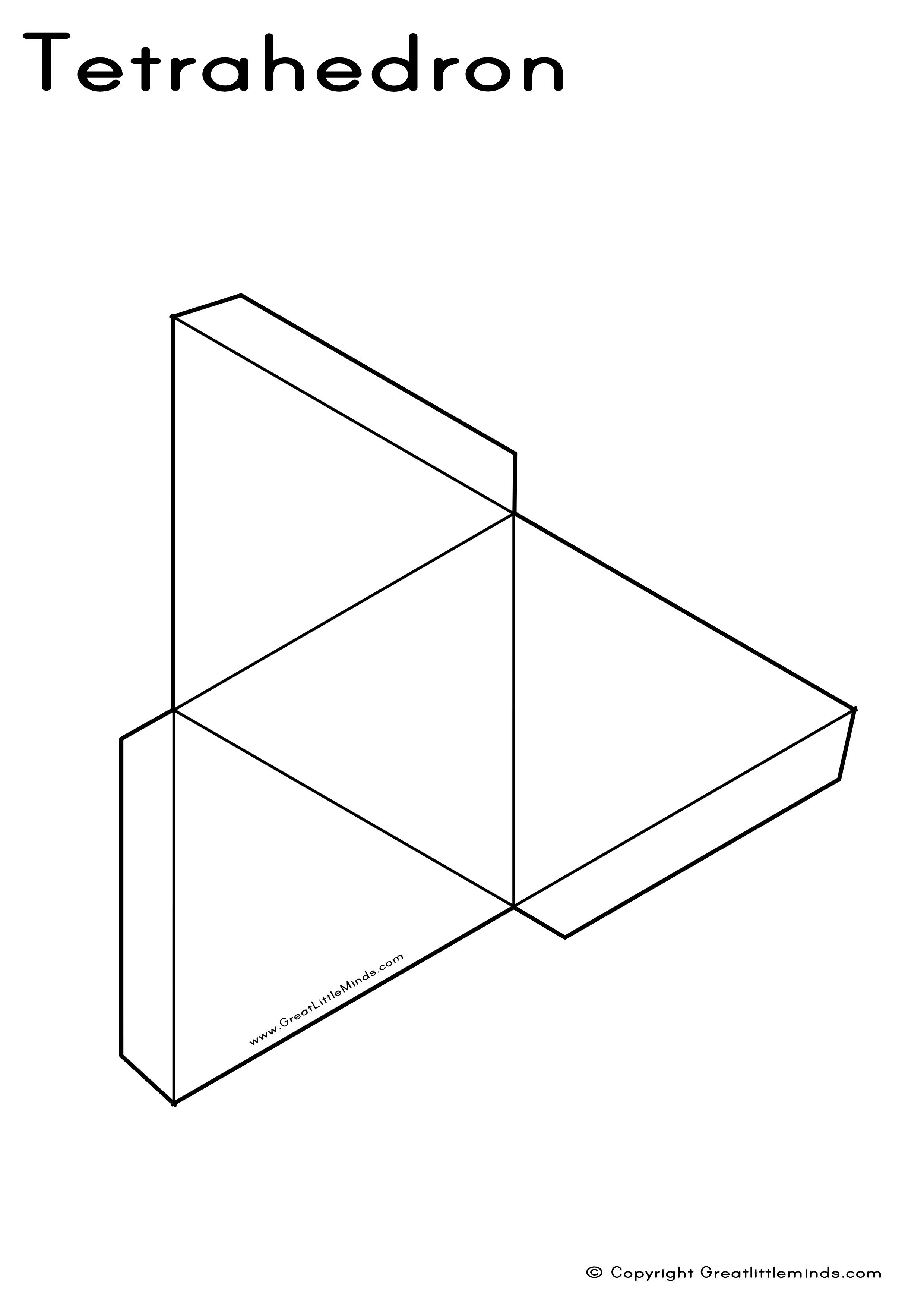 geometry net templates - printable 3d shape templates images