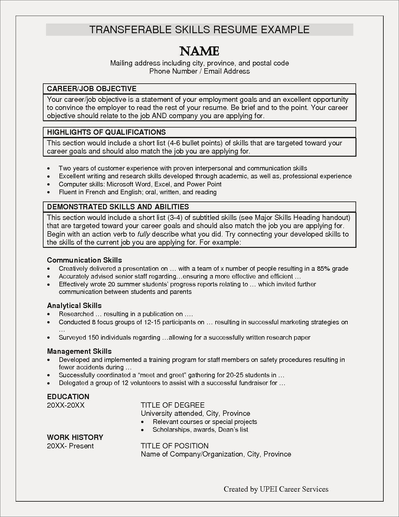 Resume Examples Key Skills examples resume