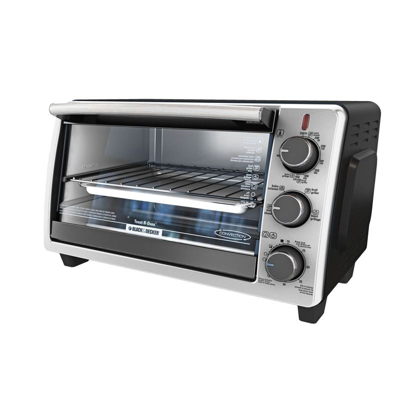 Black Decker 6 Slice Convection Toaster Oven Stainless Steel