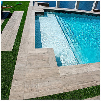 Atlas Revere Etic Wood Look Shows Off Custom Pool In Pompano Beach D B Tile Custom Pools Pool Tile Small Pool Design