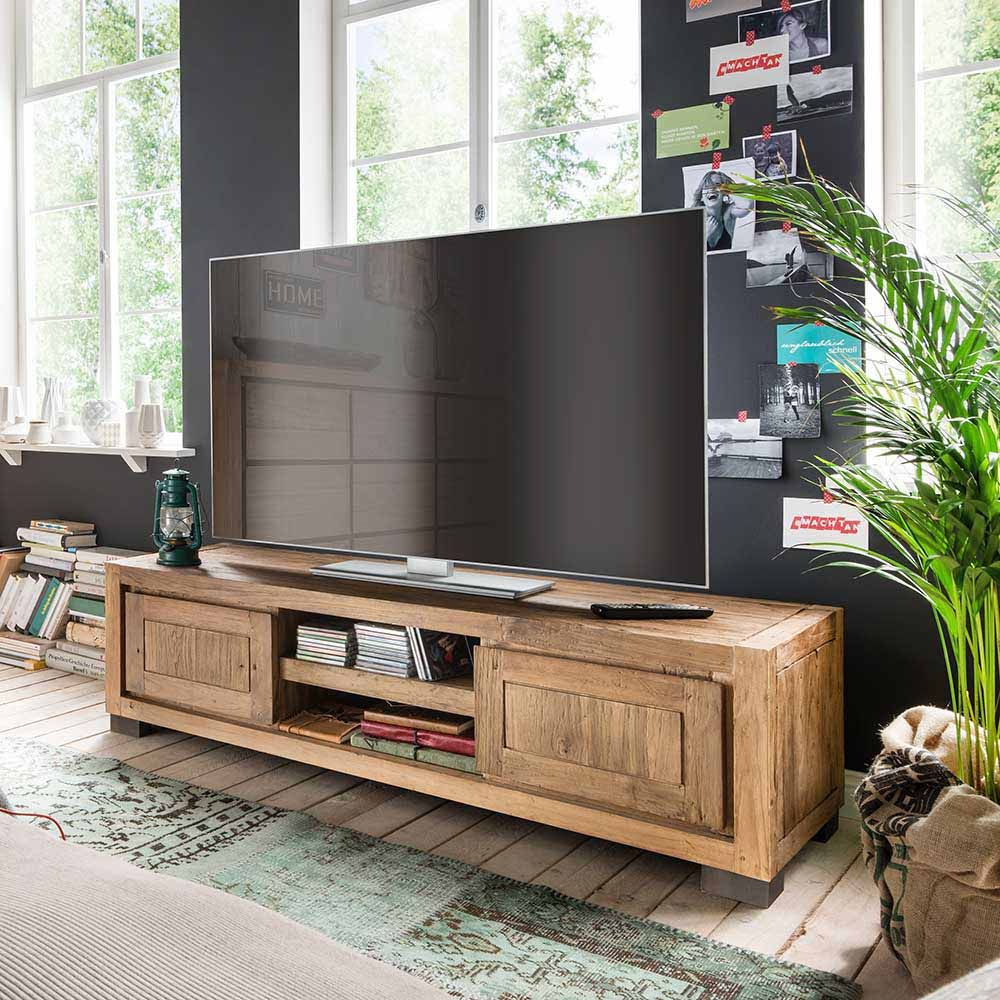 tv board aus teak recyclingholz 150 cm jetzt bestellen. Black Bedroom Furniture Sets. Home Design Ideas