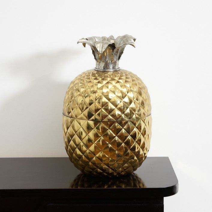 Astor Place   An Italian Brass Pineapple Ice Bucket - Accessories - Vintage pieces