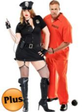 Plus Size Dirty Cop and Plus Size Inmate Convict Prisoner Couples ...
