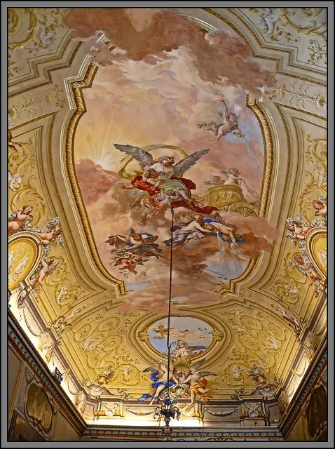 Caserta royal palace reggia di caserta italy mural on ceiling ancestry italy pinterest - Interior designer caserta ...