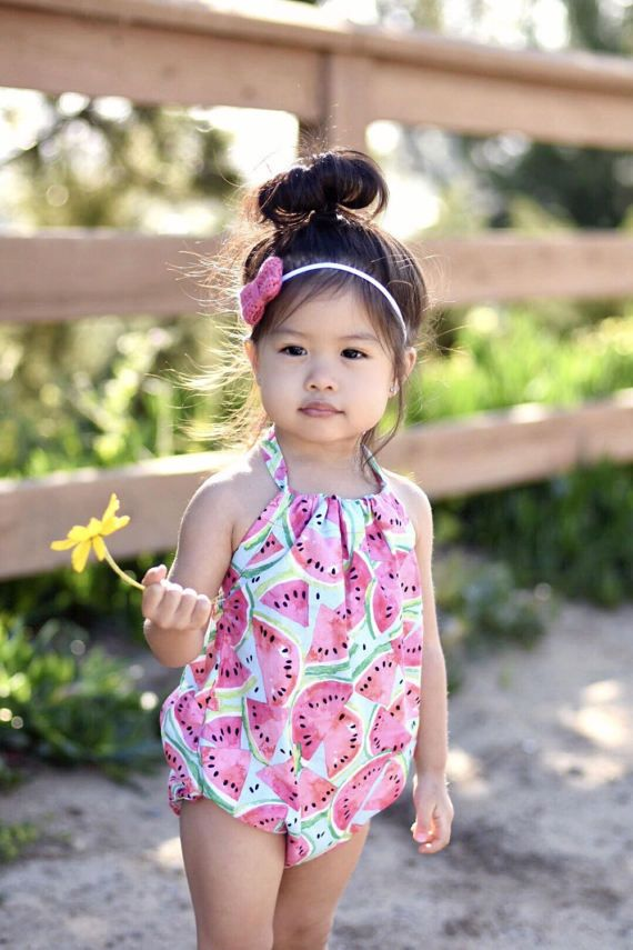 f54049ee5 Adorable kids clothes, watermelon romper for girls.   Baby and kids ...