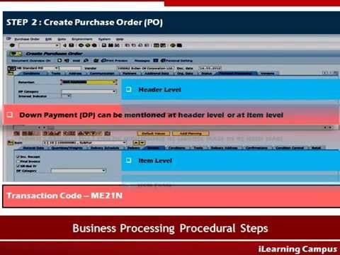 Fi  Mm Integration  Handling Of Down Payment Through Purchase