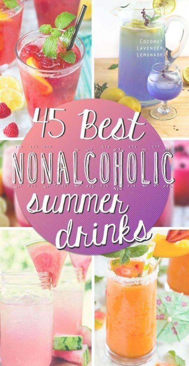 45 Best Nonalcoholic Summer Drinks #nonalcoholic #summer #drinks #nonalcoholicsummerdrinks
