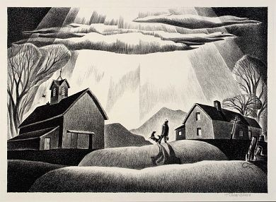 Midwest Morning, Dale Nichols (mid-1930s). Smithsonian American Art Museum.