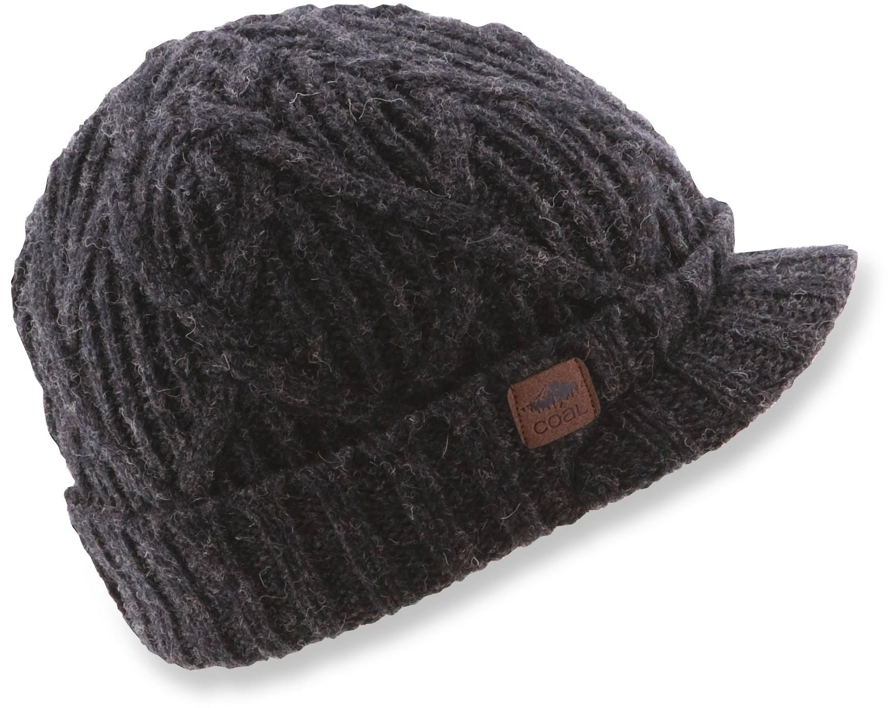 62bf864c8be The Coal Yukon Brim beanie offers a traditional fit and features a roll-up  cuff with a brim.
